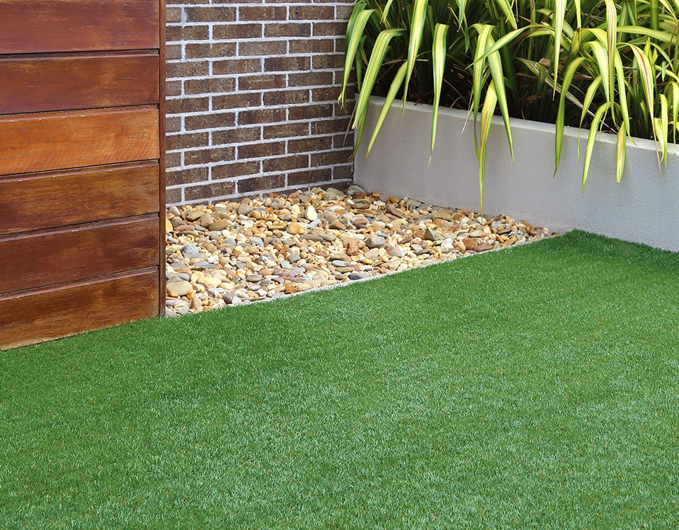 Artificial Lawn on Brick Wall
